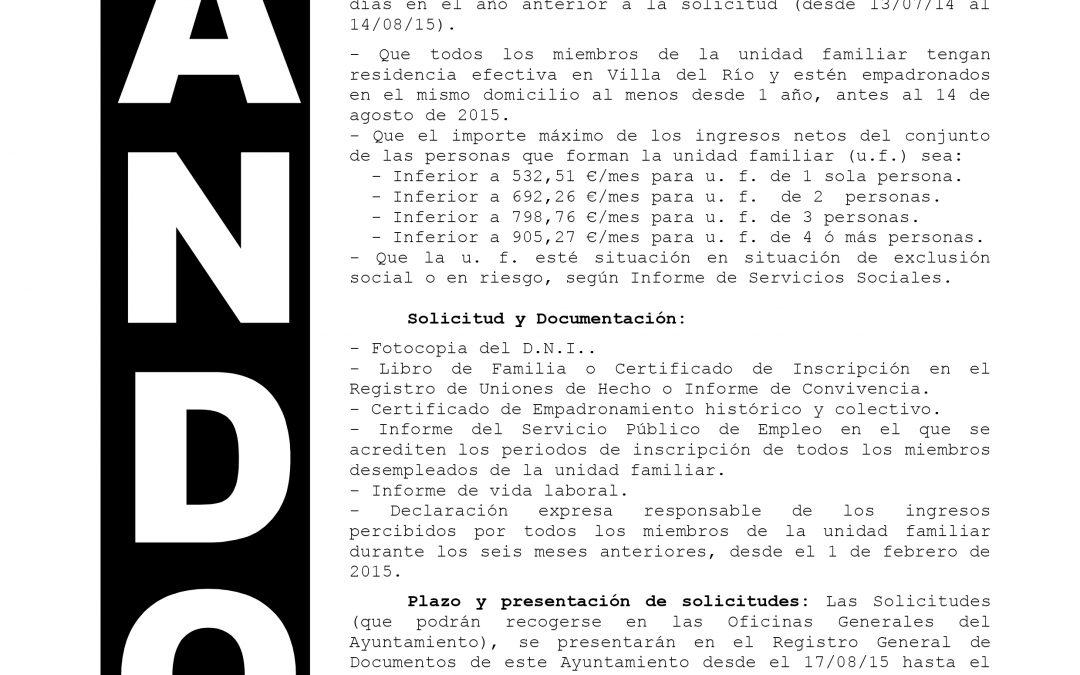 PROGRAMA DE AYUDA A LA CONTRATACIÓN «INCLUSIÓN SOCIAL»