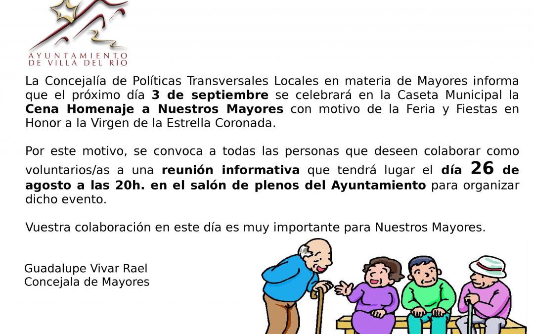 Reunión informativa para voluntarios/as Cena Homenaje a Nuestros Mayores 1