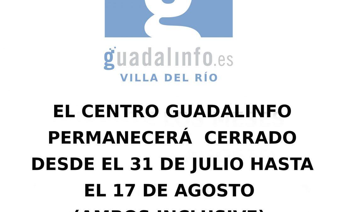 El Centro Guadalinfo cerrado por vacaciones 1