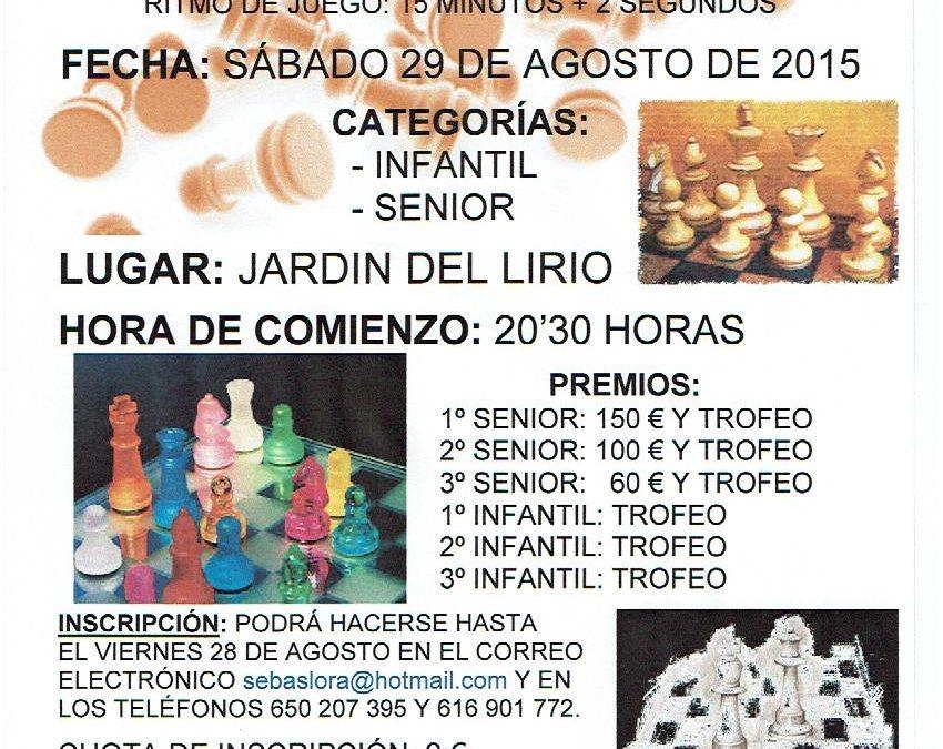 XXº Memorial de Ajedrez Ciudad de Villa del Río
