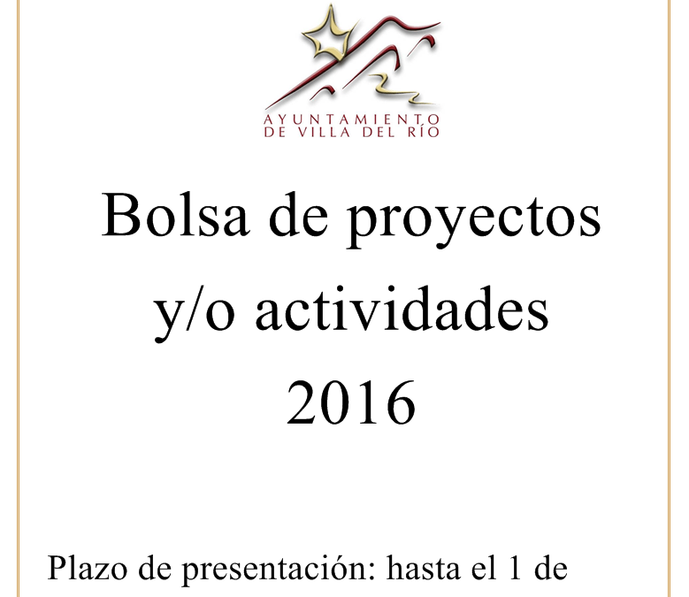 Bolsa de proyectos y/o actividades para 2016 1