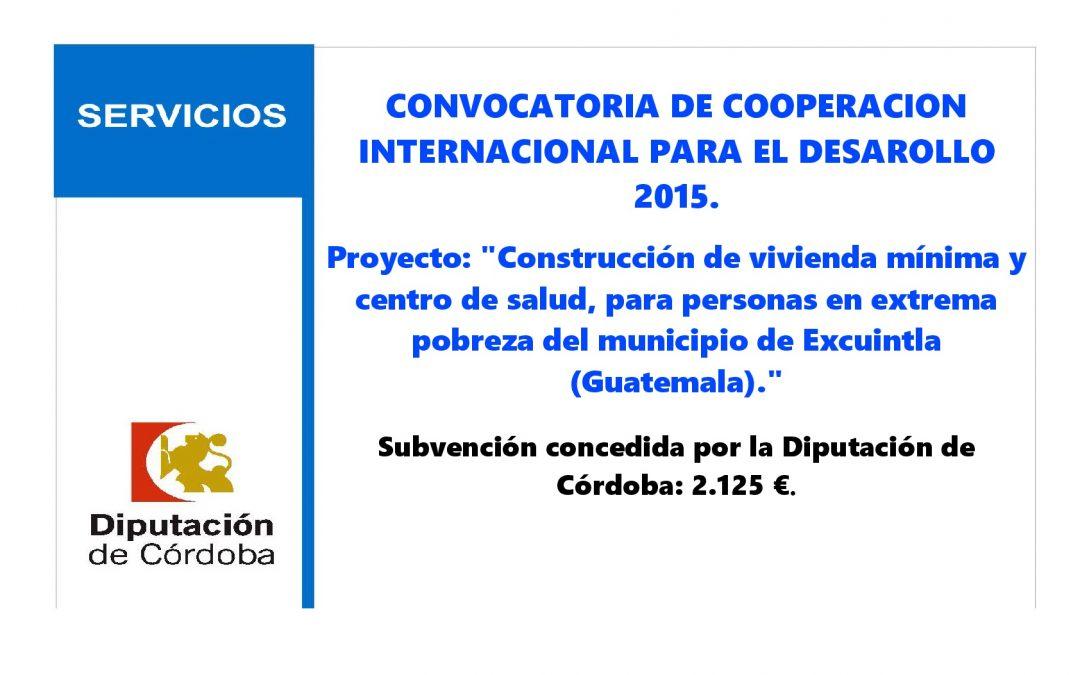 Subvención Diputación Cooperación Internacional