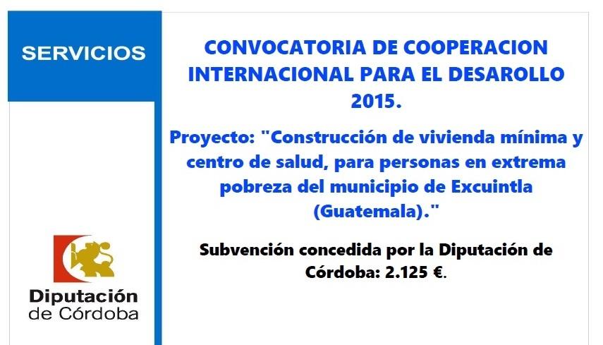 Subvención concedida al Ayuntamiento de Villa del Río 1