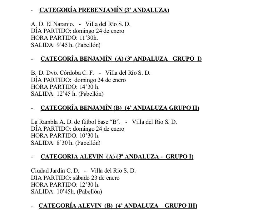 Horario de los partidos de fútbol para la jornada del 23/24 de enero 1