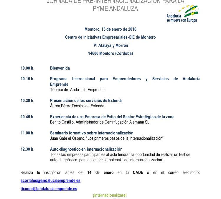 Jornada de Pre-Internacionalización para la Pyme Andaluza  1