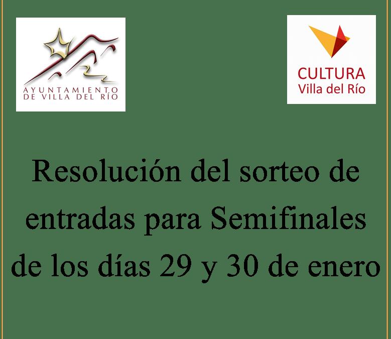 Resolución del sorteo de entradas para Semifinales del Concurso de Comparsas y Chirigotas 1