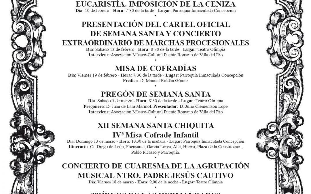 Comienzan los Actos Cuaresmales de la Semana Santa 2016 1