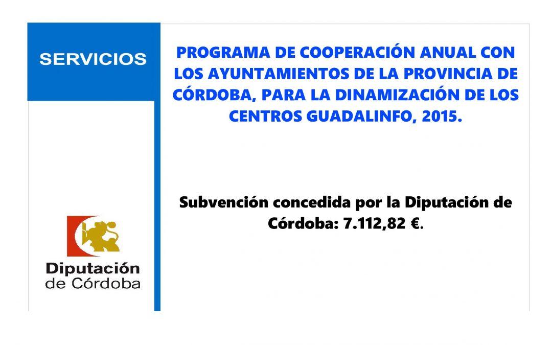 Subvención Diputación dinamización Centro Guadalinfo 1