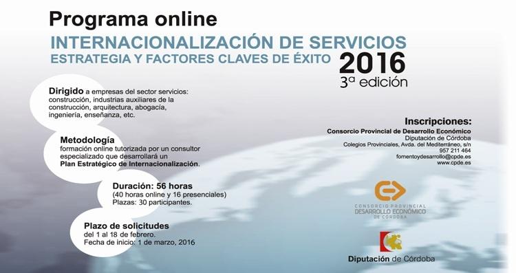 ABIERTO EL PLAZO DE INSCRIPCIÓN PARA EL PROGRAMA ONLINE DE INTERNACIONALIZACIÓN DE SERVICIOS 1