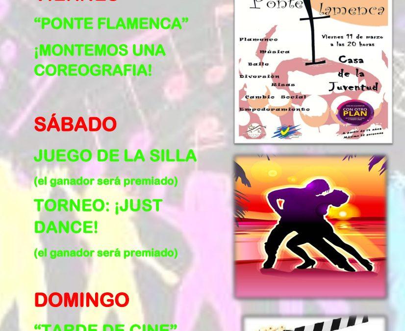 ACTIVIDADES 'CON OTRO PLAN' PARA EL 11-13 DE MARZO 1
