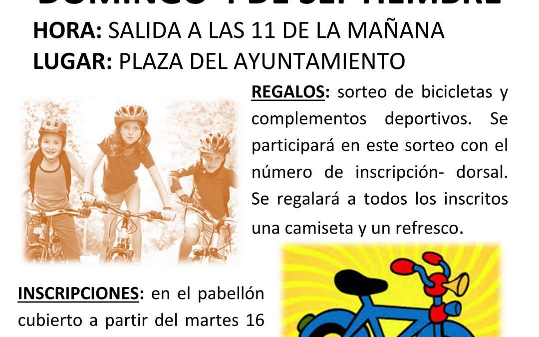cartel dia de la bicicleta 2016