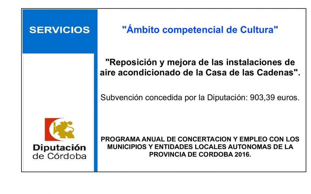 Reposición y mejora de las instalaciones de aire acondicionado de la Casa de las Cadenas 1