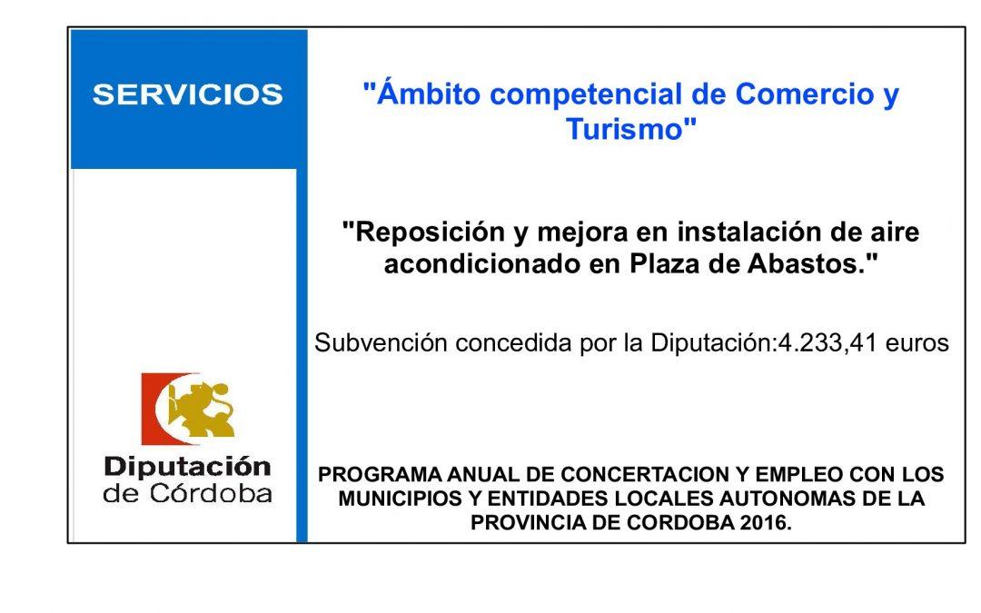 Reposición y mejora en instalación de aire acondicionado en Plaza de Abastos 1