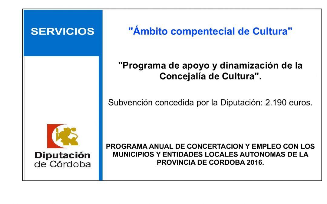 Programa de apoyo y dinamización de la Concejalía de Cultura 1