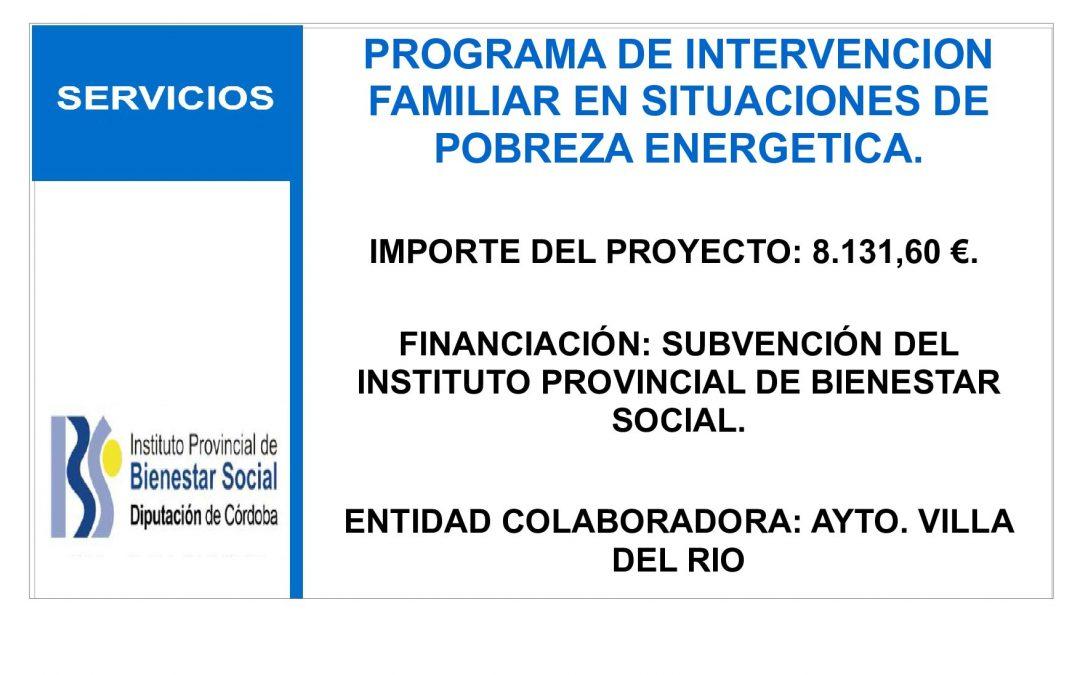 PROGRAMA DE INTERVENCION FAMILIAR EN SITUACIONES DE POBREZA ENERGETICA. 1