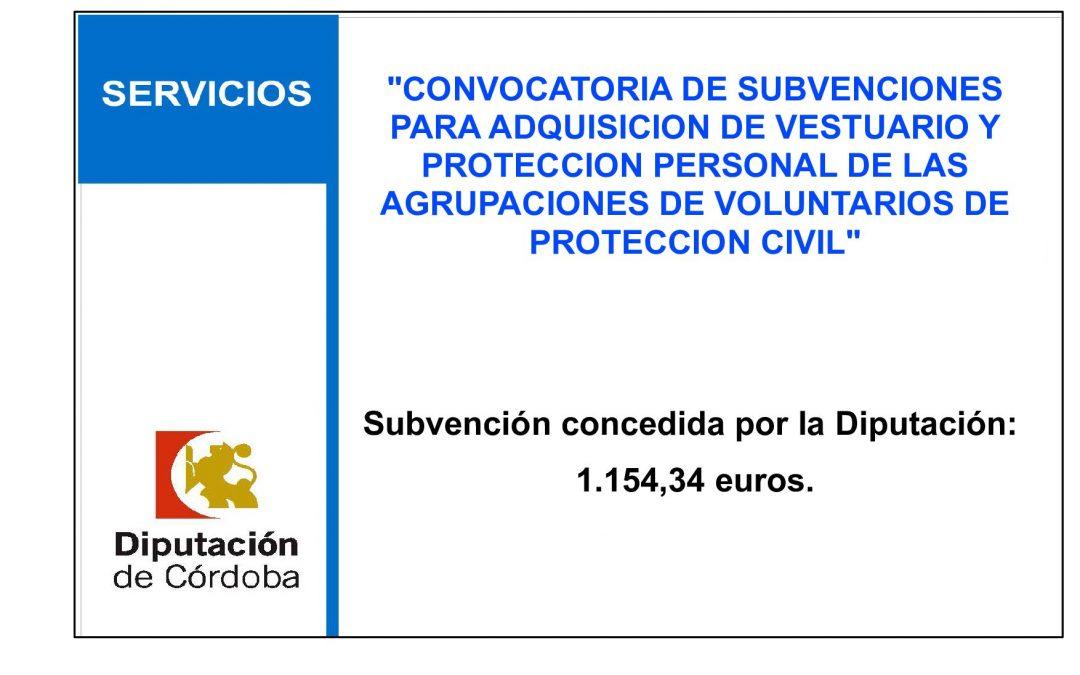 CONVOCATORIA DE SUBVENCIONES PARA ADQUISICION DE VESTUARIO Y PROTECCION PERSONAL DE LAS AGRUPACIONES DE VOLUNTARIOS DE PROTECCION CIVIL 1