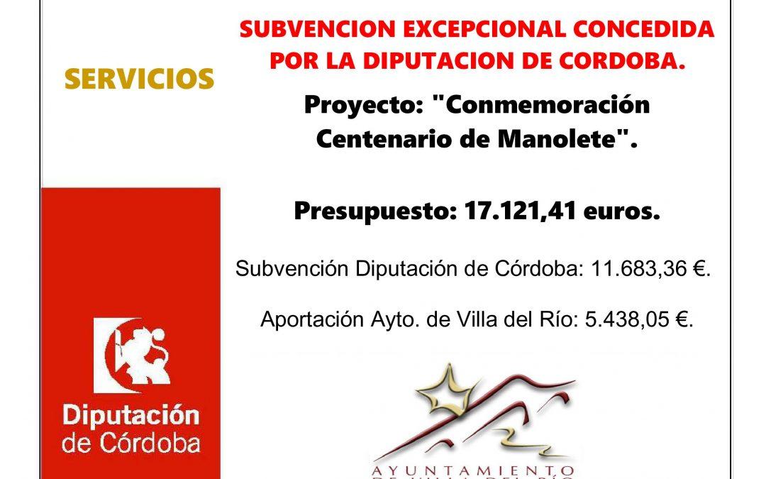 CONMEMORACION CENTENARIO DE MANOLETE. 1
