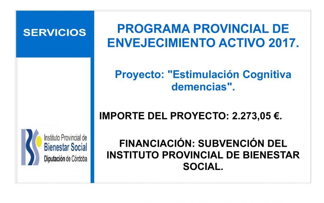 PROGRAMA PROVINCIAL DE ENVEJECIMIENTO ACTIVO 2017. 1
