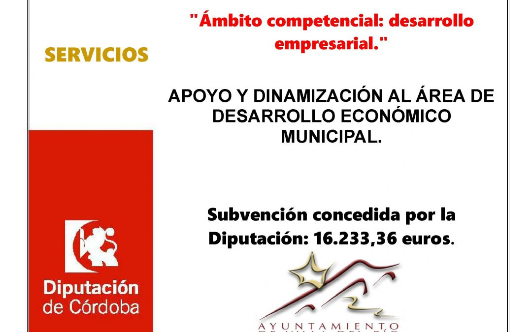 APOYO Y DINAMIZACIÓN AL ÁREA DE DESARROLLO ECONÓMICO MUNICIPAL 1