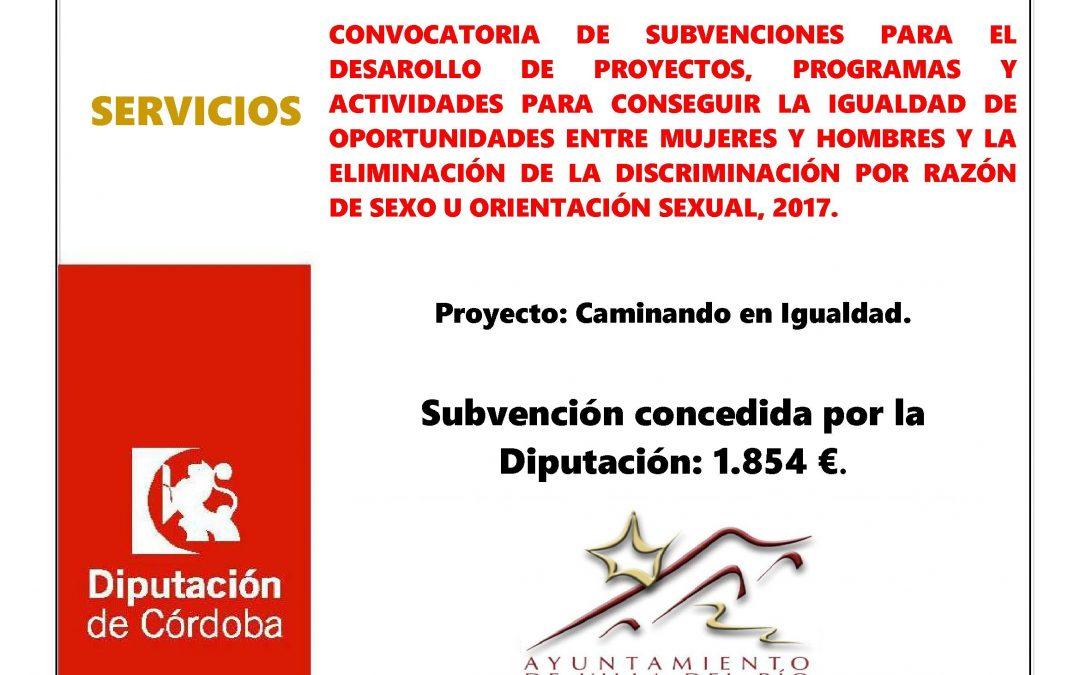 CONVOCATORIA DE SUBVENCIONES PARA EL DESAROLLO DE PROYECTOS, PROGRAMAS Y ACTIVIDADES PARA CONSEGUIR LA IGUALDAD DE OPORTUNIDADES ENTRE MUJERES Y HOMBRES Y LA ELIMINACIÓN DE LA DISCRIMINACIÓN POR RAZÓN DE SEXO U ORIENTACIÓN SEXUAL, 2017. 1