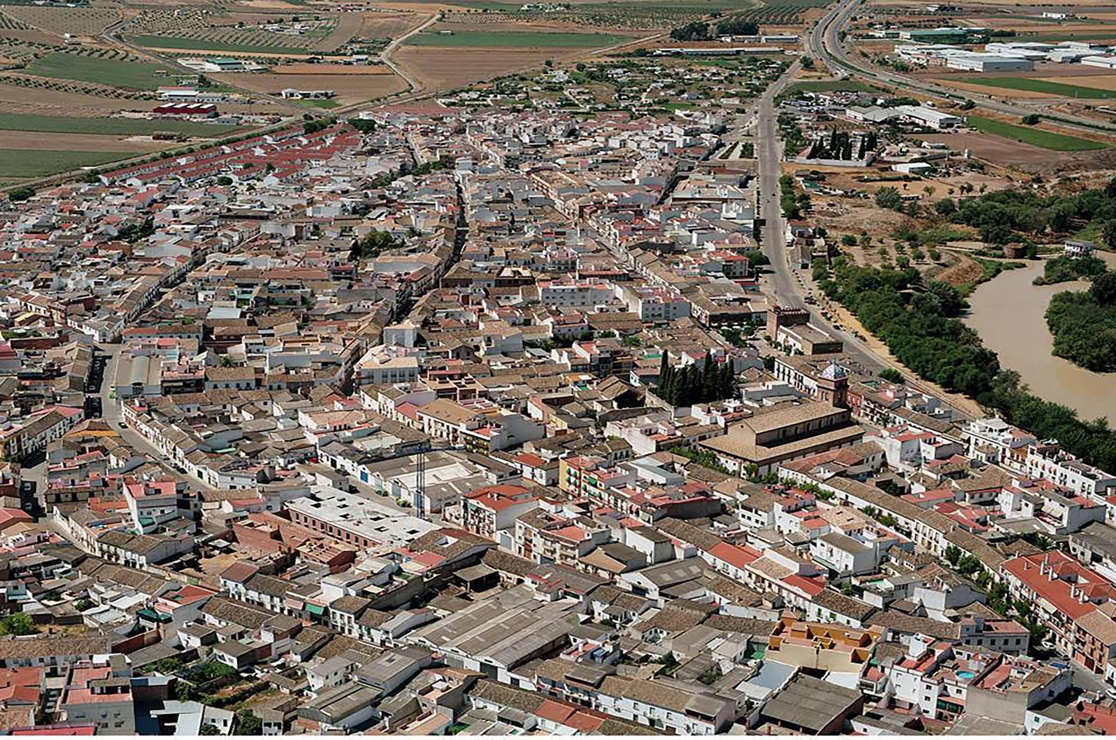 Vista aérea de Villa del Río