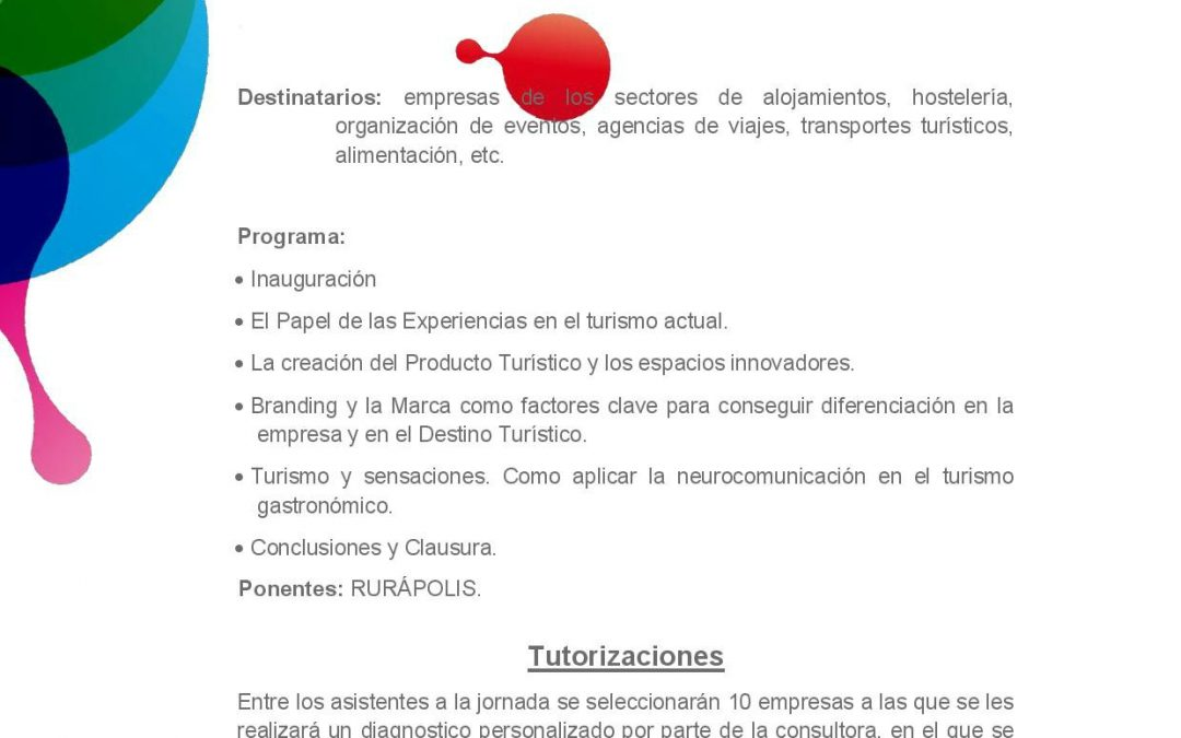 Encuentro Gastronomía y Turismo. 1