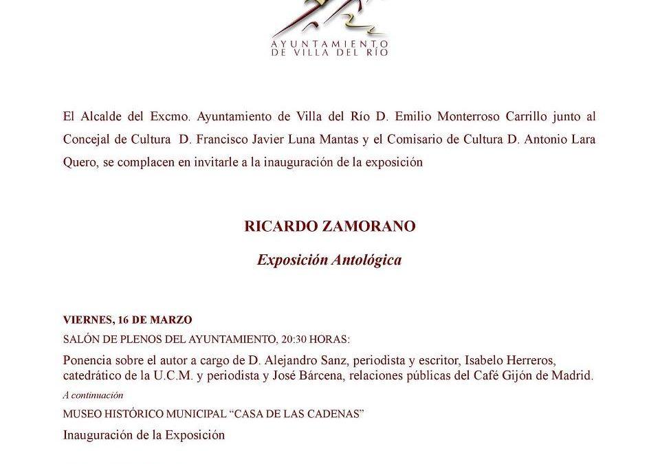Exposición Antológica de Ricardo Zamorano 1