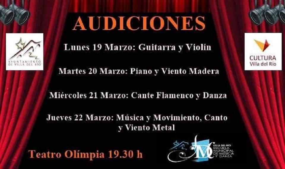 Audiciones de la Escuela Municipal de Música y Danza del Villa del Río 1