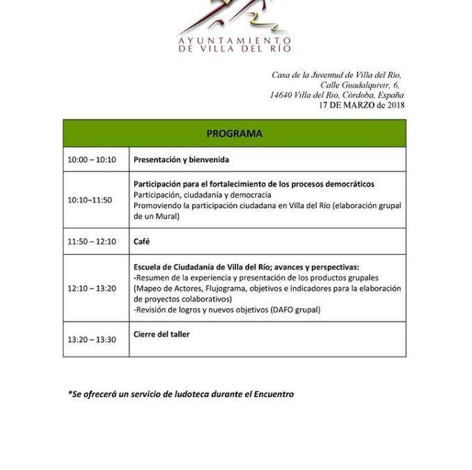 V Encuentro Formativo y 6ª Sesión de la Escuela de Participación Ciudadana 1