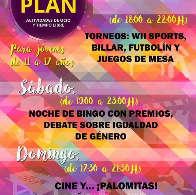 """Actividades """"Con Otro Plan"""" 1"""