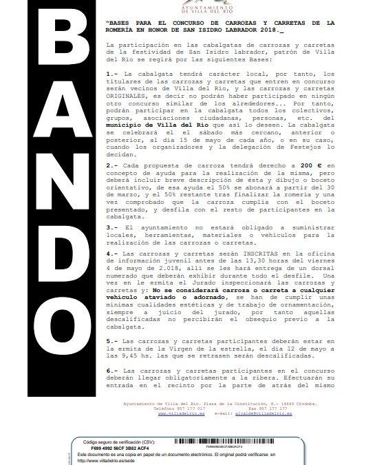 Bandos concurso Cruces de Mayo y carrozas/carretas San Isidro 2018 1