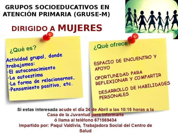 Grupos Socioeducativos de Atención Primaria (Gruse 1