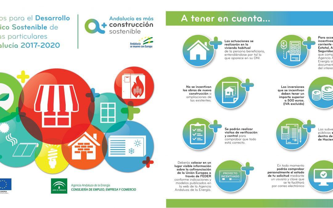 Incentivos para el desarrollo energético sostenible de viviendas particulares de Andalucía 2017-2020 1