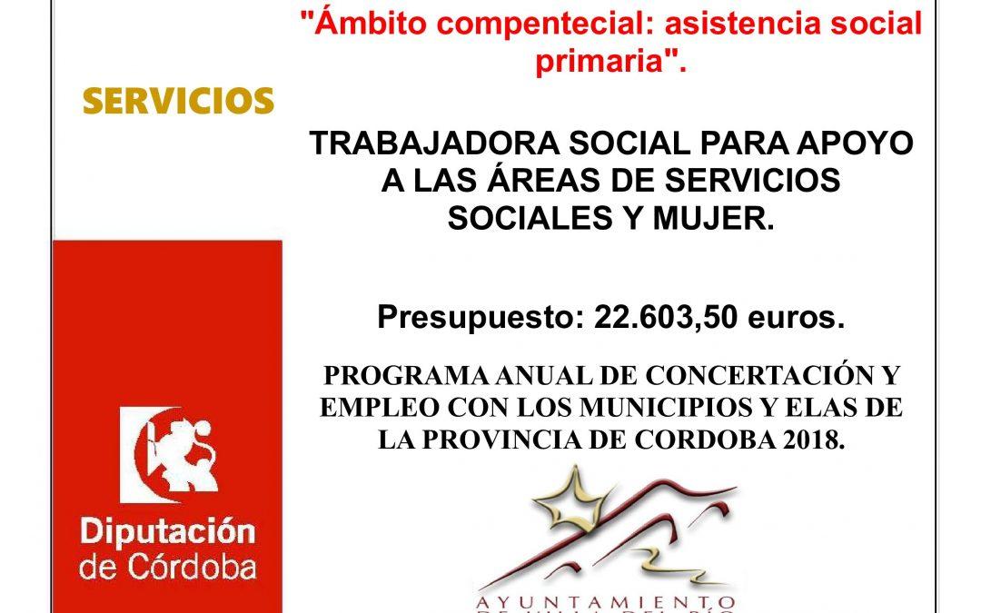 Trabajadora Social de apoyo a las áreas de servicios sociales y mujer 1