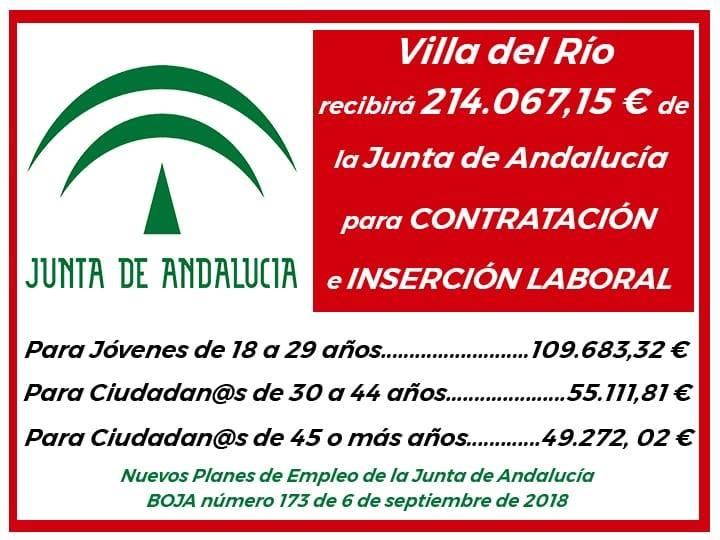Villa del Río recibirá 214.067,15 € de la Junta de Andalucía para contratación e inserción laboral 1