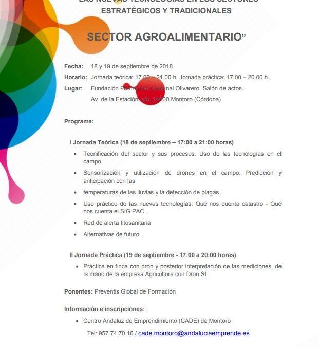 Jornadas sector agropecuario NNTT Montoro