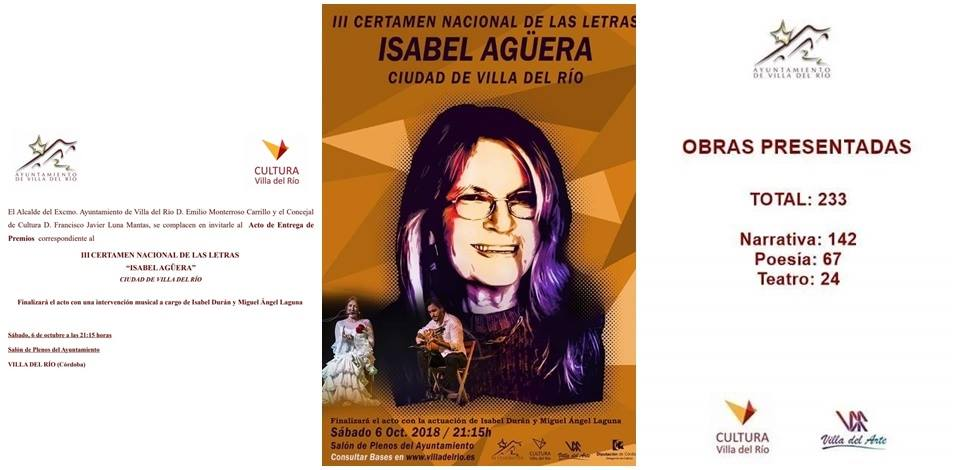 """III Certamen Nacional de las Letras """" Isabel Agüera"""" 1"""