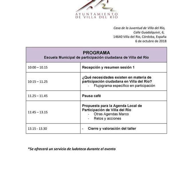 III Escuela de participación ciudadana. 2º Encuentro 1