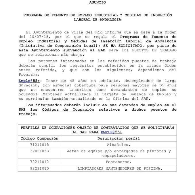 Programa de fomento de empleo industrial y medidas de inserción laboral de Andalucia 1