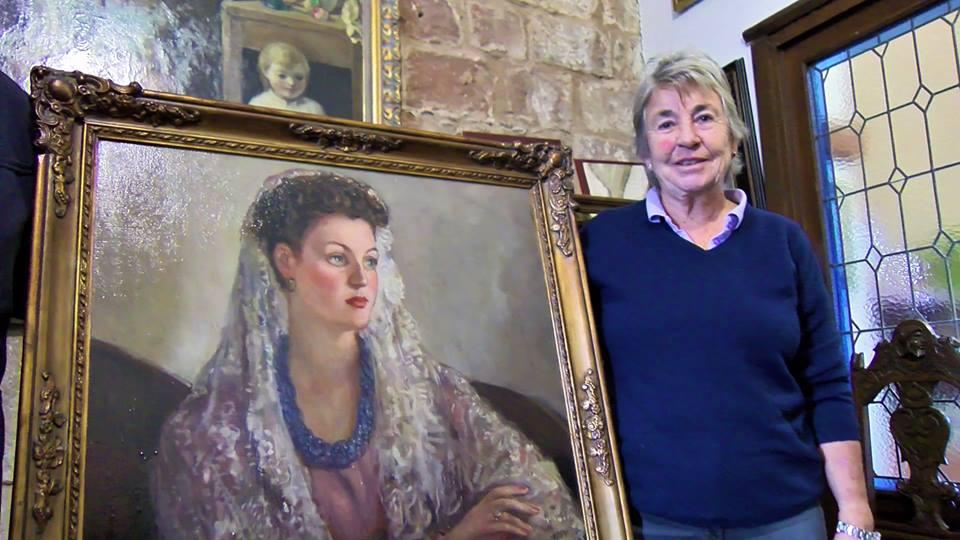 Donan al Ayuntamiento de Villa del Río el retrato de Josefina Ferrer, pintado por Pedro Bueno 1