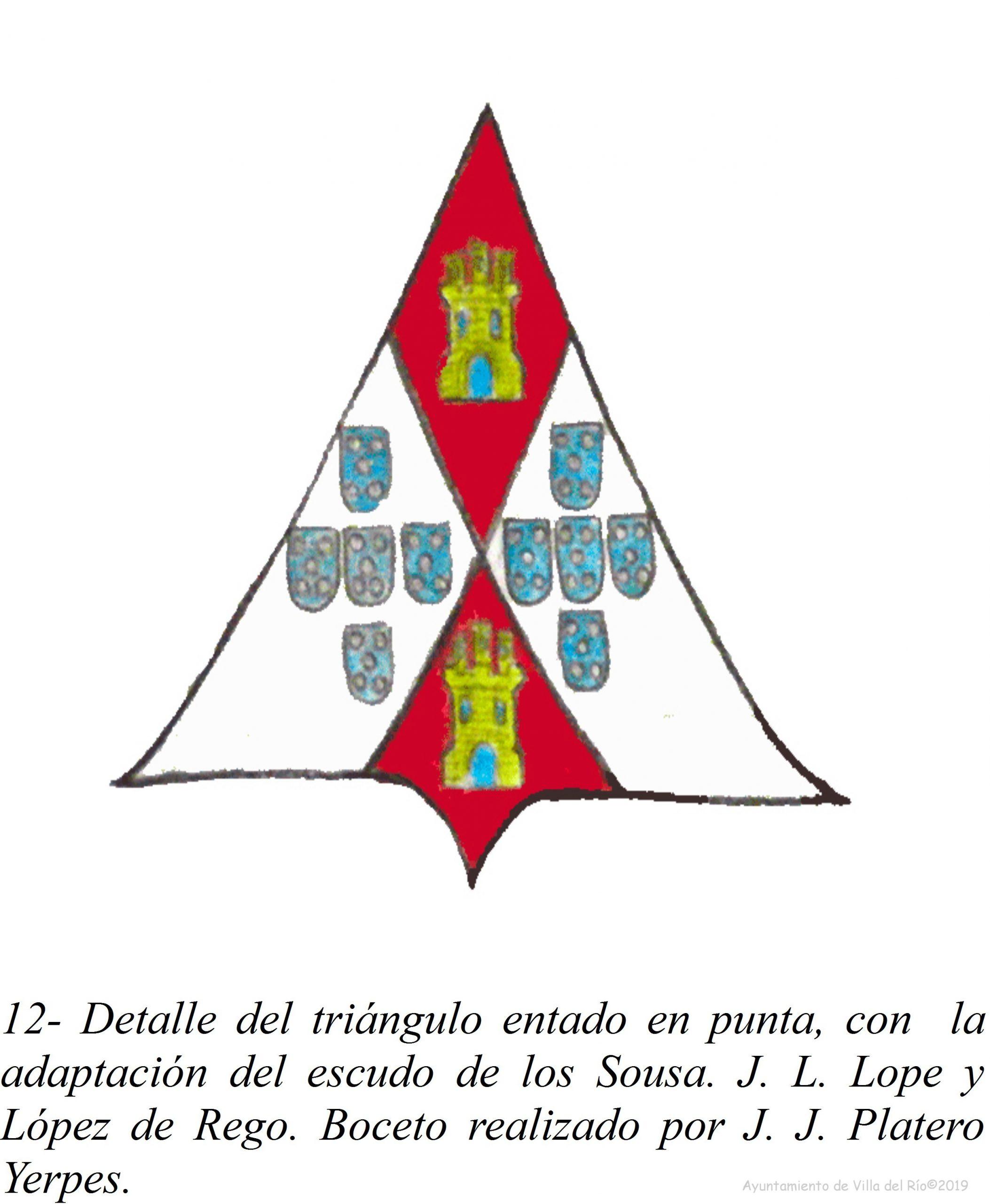 Triángulo entado en punta