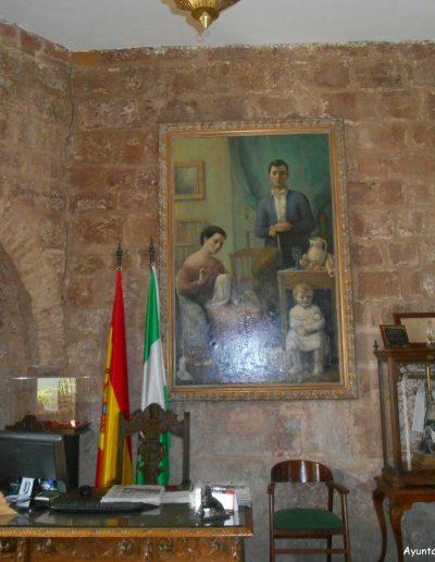 Despacho de la alcaldía. El castillo presenta una mezcla de arquitecturas y elementos decorativos de diferentes culturas