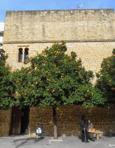 Torre de Poniente del Castillo, de planta rectangular y revestida con piedra molinaza. En 1530 pasó a ser Iglesia parroquial