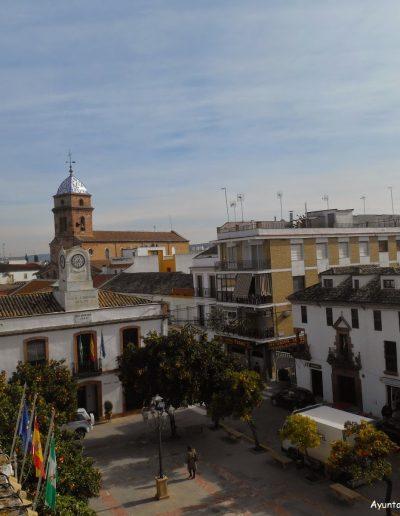 Desde la terraza del Castillo vemos la parroquia de la Inmaculada Concepción