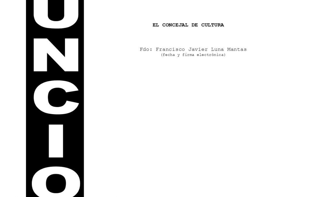 Anuncio Logos Cultura, Villa del Arte y Villa del Mueble