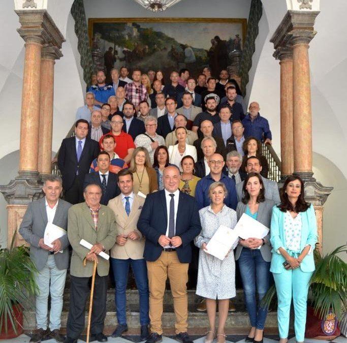 Firma del convenio con la Diputación para el XXXIII Trofeo Ibérico Internacional de Pesca 1
