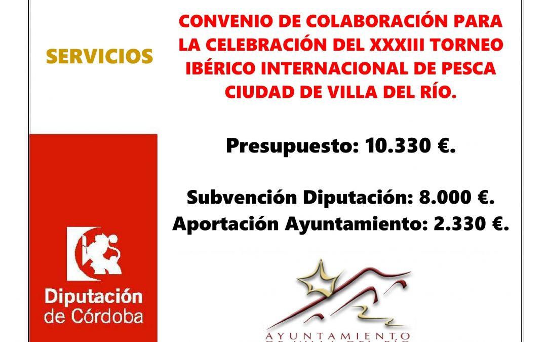 CONVENIO DE COLABORACIÓN PARA LA CELEBRACIÓN DEL XXXIII TORNEO IBÉRICO INTERNACIONAL DE PESCA CIUDAD DE VILLA DEL RÍO. 1