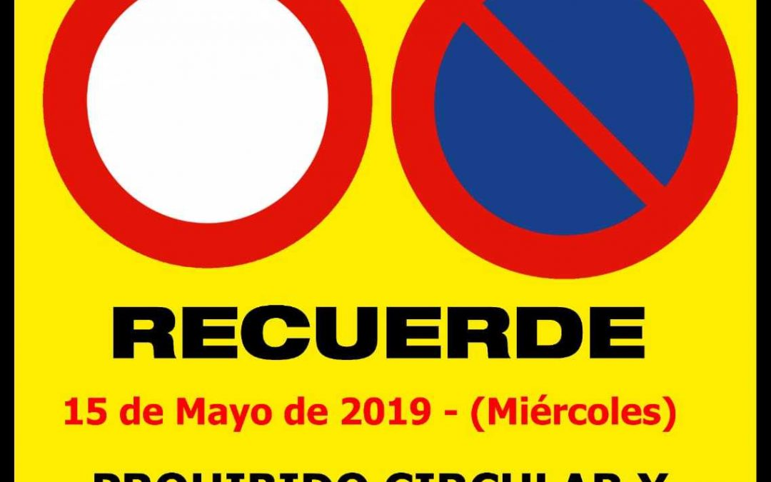 Prohibido circular y estacionar en el recinto de San Isidro Labrador