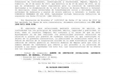 Selección de Agente de Innovación Social en Guadalinfo