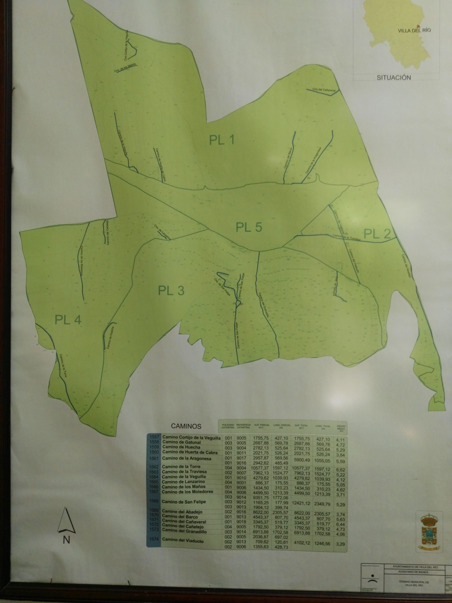 Caminos Públicos de Titularidad Municipal de Villa del Río